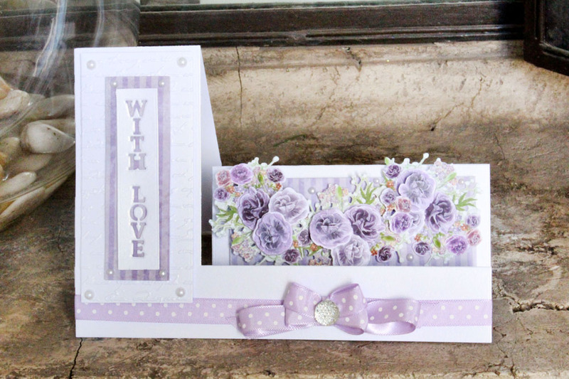 Shaped Cards by Tattered Lace - Side Stepper Card