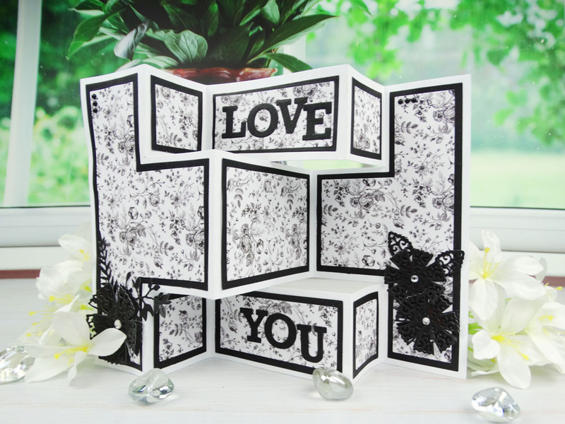 Shaped Cards by Tattered Lace - Shutter Card