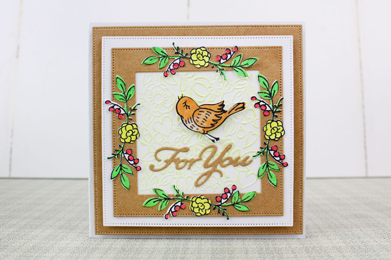 Trio by Tattered Lace - Love Bird Berries