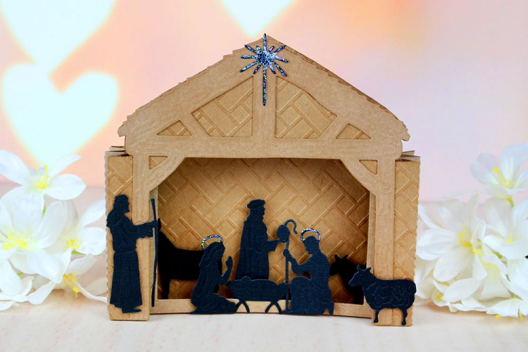 Tattered Lace Die Nativity Scene