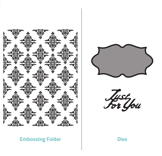 Embossing Folder 2 in 1 set - Just for You