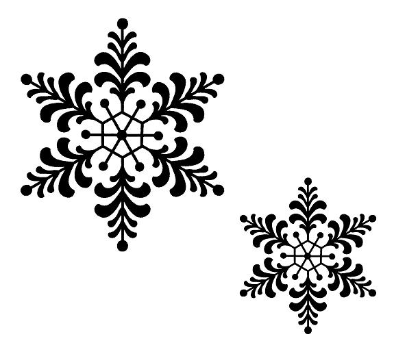 Sue Wilson Stamps - Feathery Snowflake
