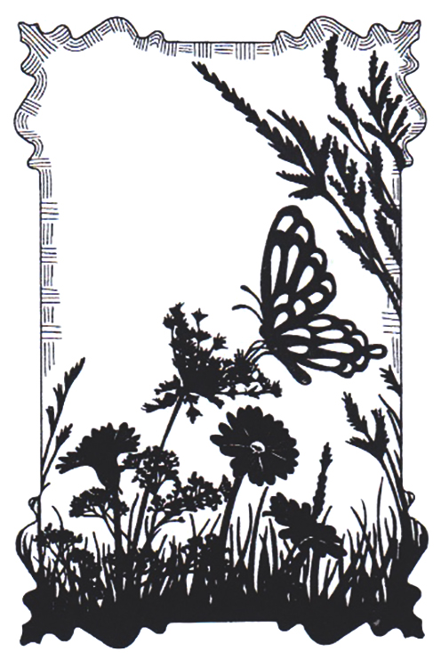 Cling Stamps - Butterfly Meadow