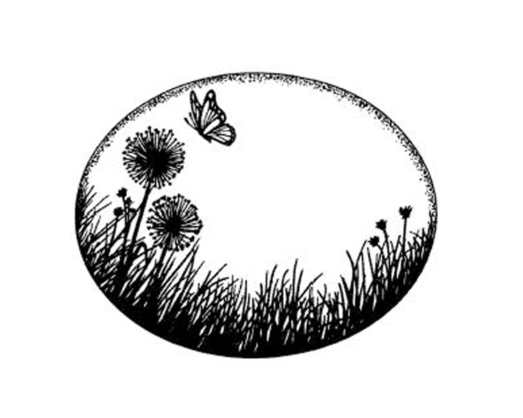 Creative Expressions Foam Mounted Cling Stamps - Dandelion Meadow