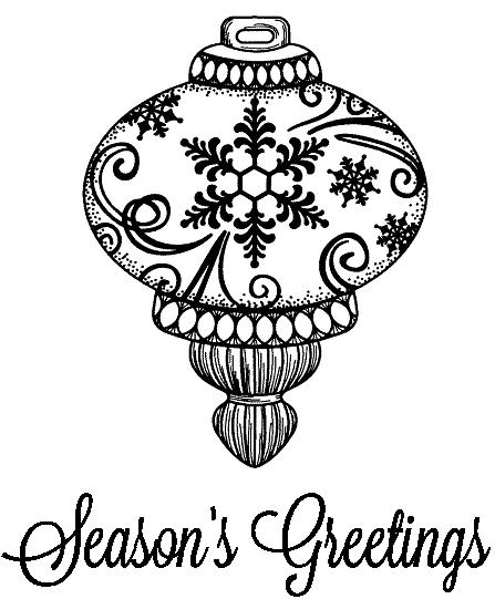 Creative Expressions Sue Wilson Stamps - Snowflake Bauble