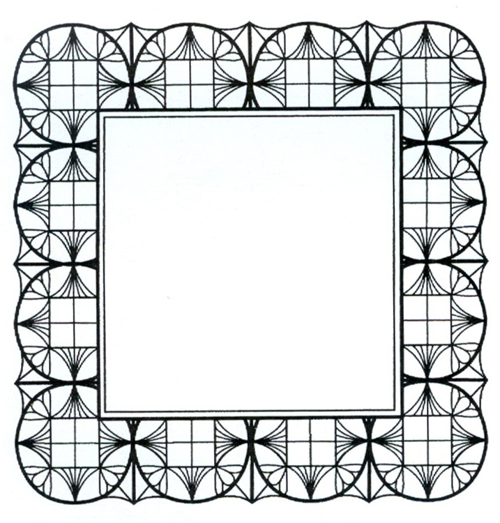 Creative Expressions Foam Mounted Cling Stamps - Geometric Square