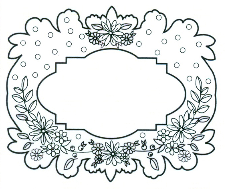 Creative Expressions Ce Foam Stamps - Floral Garland