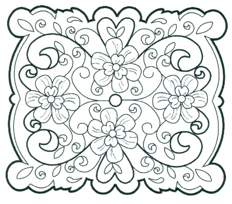 Ecstasy Crafts Ce Foam Stamps - Floral Filigree