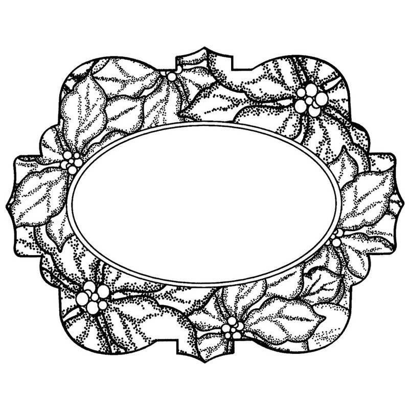 Creative Expressions Ce Foam Stamps - Poinsettia Medallion
