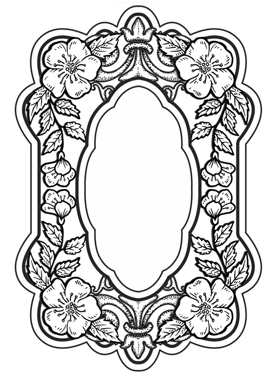 Creative Expressions Sue Wilson Cling Stamps - Baroque Blossoms