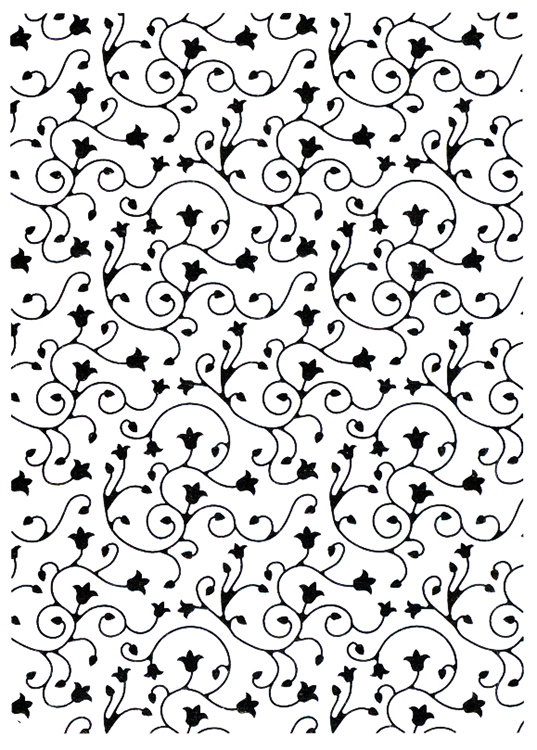 Nellie's Choice Vintasia Embossing Folder - Swirl Pattern