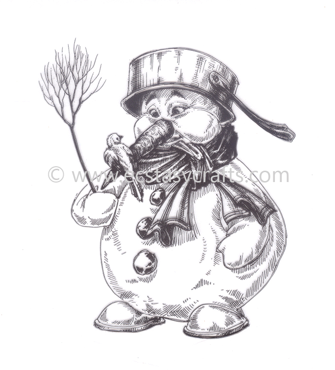 Clear Stamp - Winter Time - Snowman