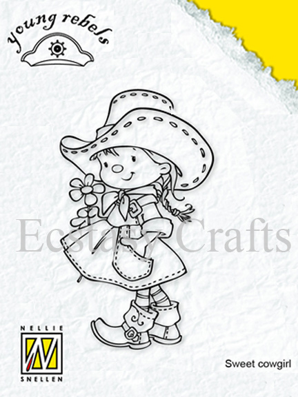 Clear Stamps - Young Rebels - Sweet Cowgirl