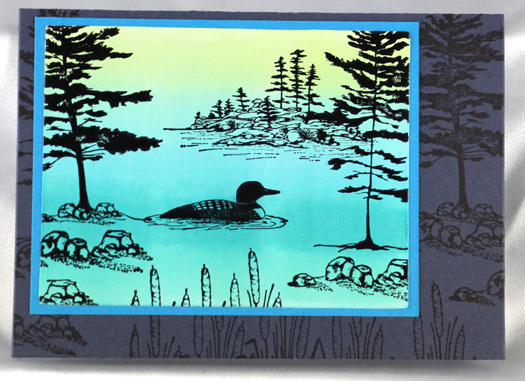 Ecstasy Crafts Frog's Whiskers Stamps - Northern Pine & Rocks