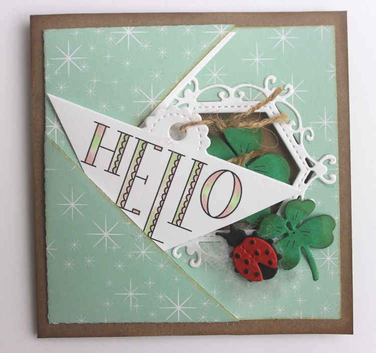 Ecstasy Crafts Joy Crafts Cut & Emboss Die & Stamp Set - Scroll Corner With Text