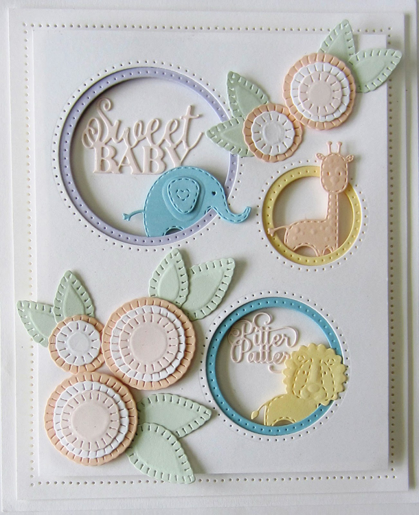 Creative Expressions Finishing Touches Collection Stitched Doodle Flowers Die