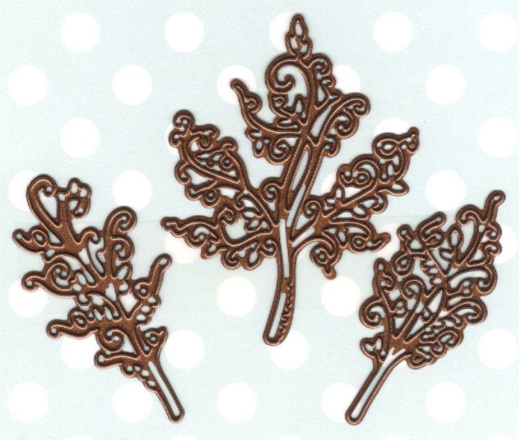 Creative Expressions Finishing Touches Collection Swirly Leaf Trio Die
