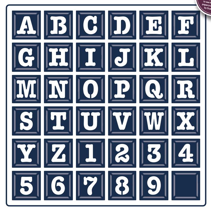 Creative Expressions Typewriter Grid Alphabet Expressions Craft Dies CED5433