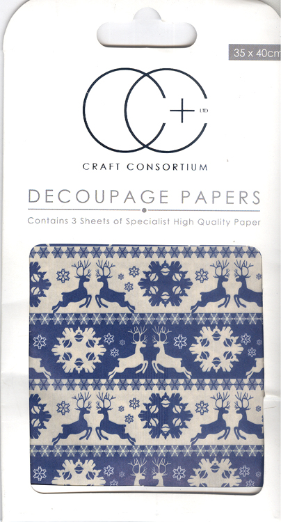 Creative Expressions Nordic Stripes Decoupage Papers