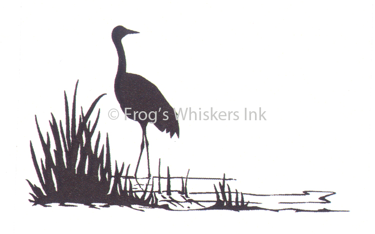Frog's Whiskers Ink Frog's Whiskers Stamps - Standing Crane