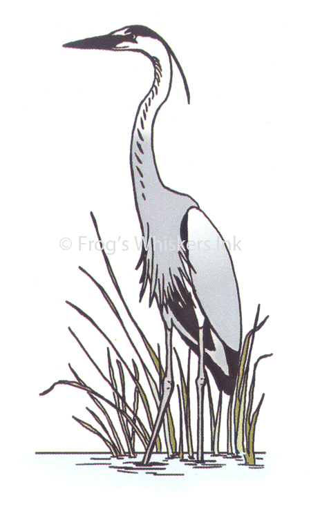 Frog's Whiskers Stamps - Heron