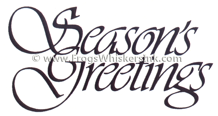 Frog's Whiskers Ink Stamps - Seasons Greetings