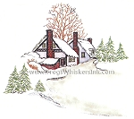 Frog's Whiskers Ink Stamps - Winter House