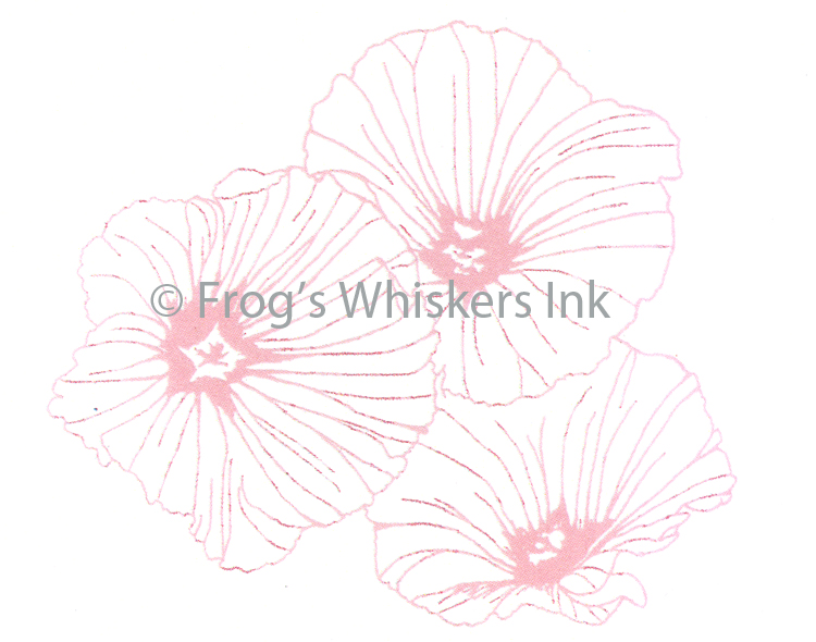 Ecstasy Crafts Frog's Whiskers Stamps - Lavatera