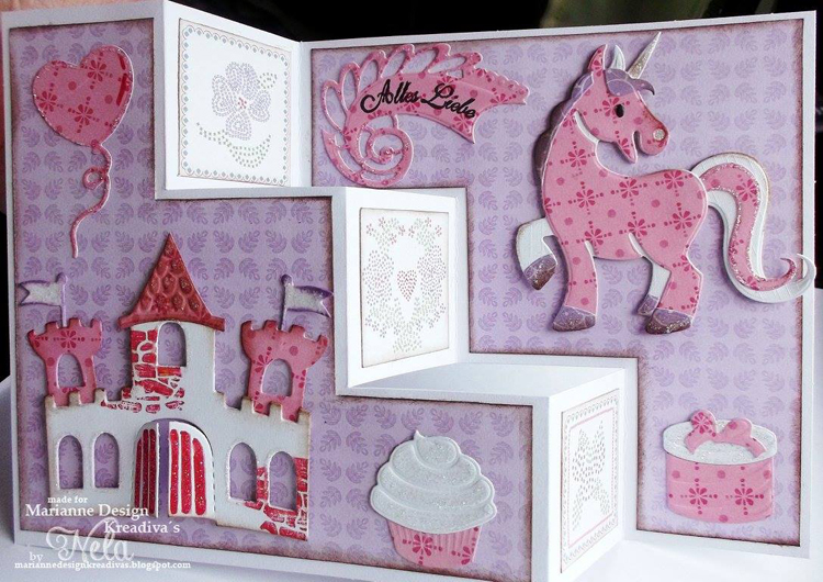 Eline/'s Horse /& Unicorn COL1408 Marianne Design Collectables Cutting Dies