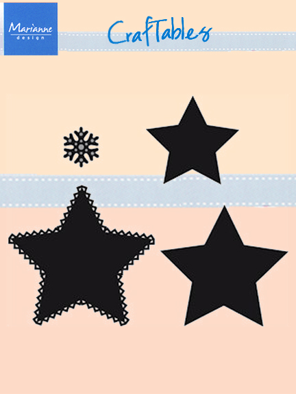 Marianne Design : Craftables Dies - Stars (set Of 3)+ Snowflake