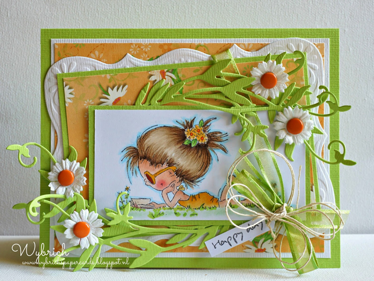 Marianne Design : Craftables Dies - Daisy And Leaves