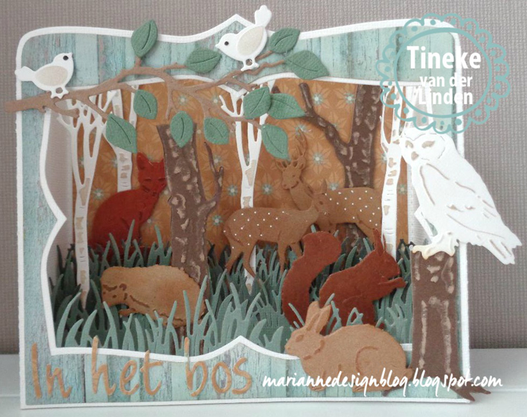 Marianne Design : Craftables Dies - Tiny's Animals - Owl And Hedgehog