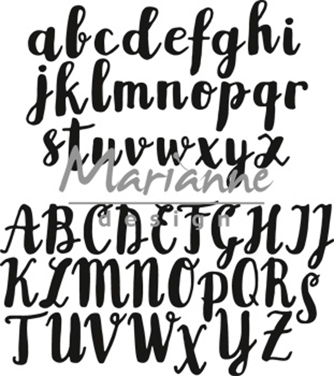 Marianne Design Brush alphabet