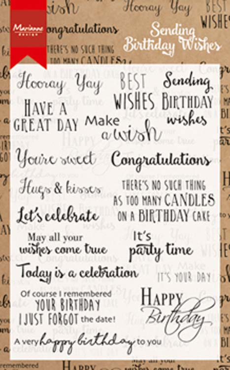 Marianne Design Stamps Birthday Wishes