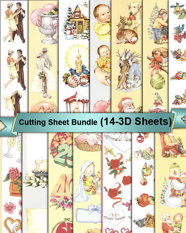 Ecstasy Crafts 3D Cutting Sheets - All Occasion - (14 Sheets)