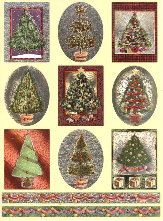 Dufex Metallic Christmas Sticker Assortment - 18 sheets