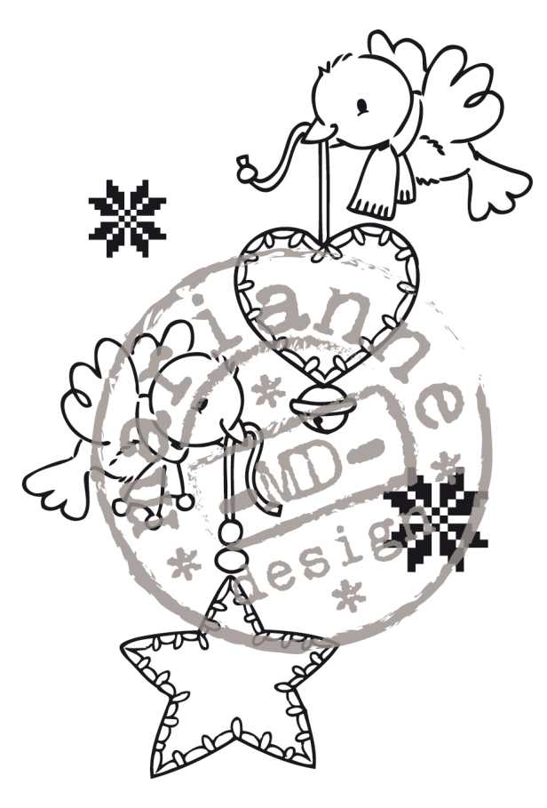 Ecstasy Crafts Clear Stamps - Merry Little Christmas-Flying Decorations