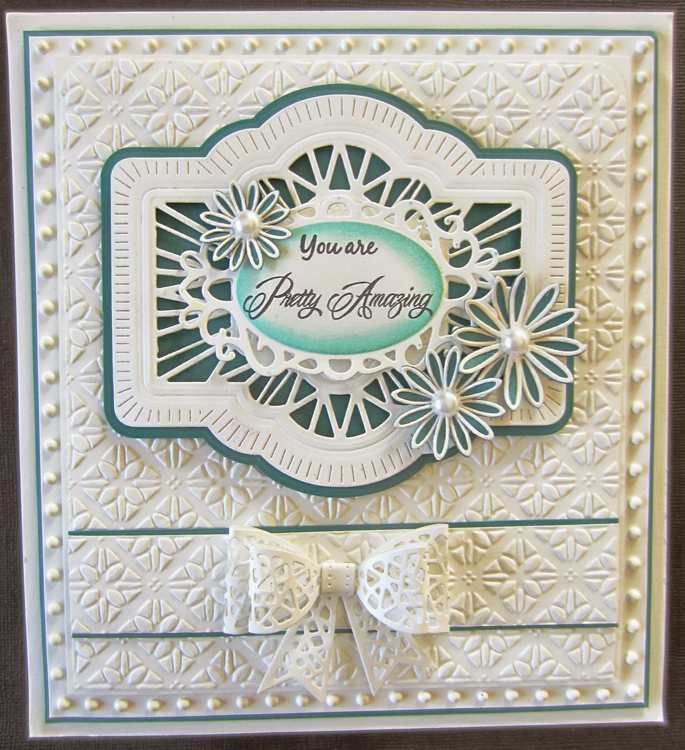 Creative Expressions Embossing Folder A4 Size - Quilted Flower