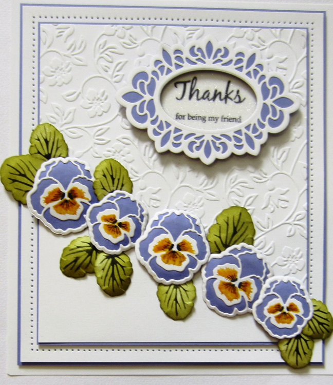 Creative Expressions Embossing folder A4 size - Rambling Blossoms
