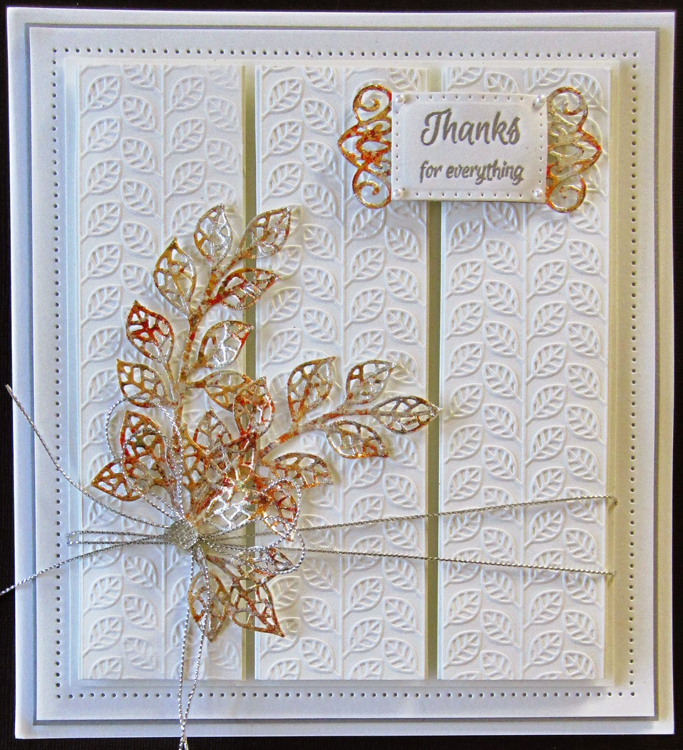 Ecstasy Crafts Creative Expressions Embossing Folder - Linear Leaves 5 3/4 X 7 1/2