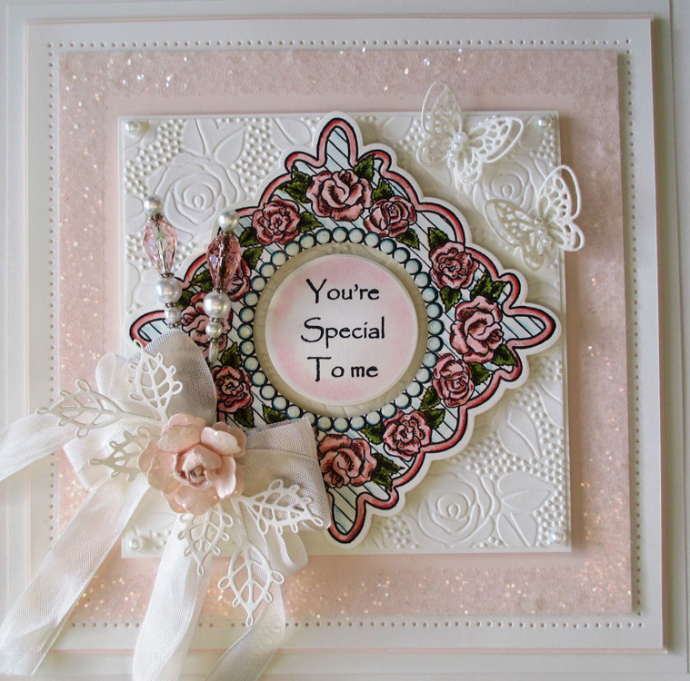 Creative Expressions Emboss Folder Rose Blooms