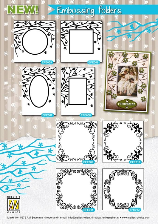 Embossing Folder - Flower Frame (Round)