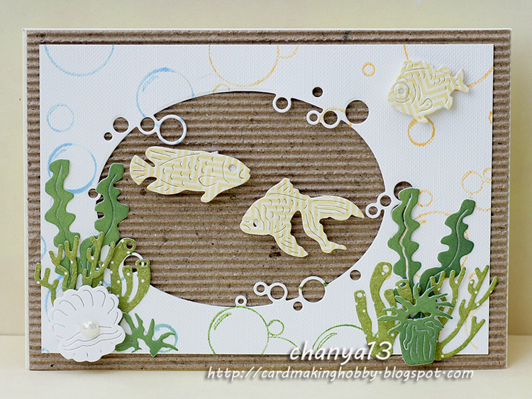 Ecstasy Crafts Frantic Stamper Precision Die - Three Fish