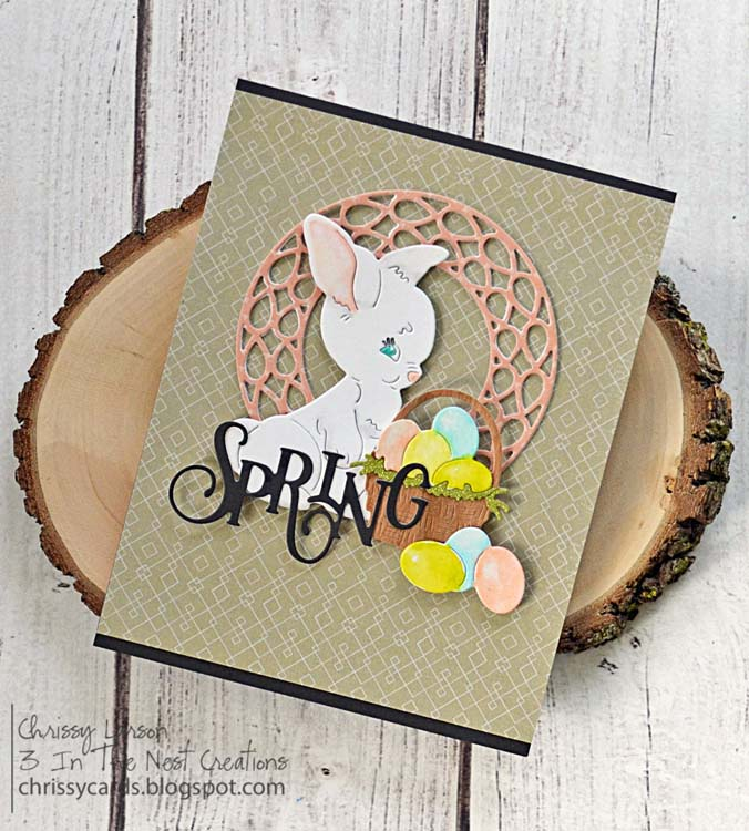Ecstasy Crafts Frantic Stamper Precision Die - Vintage Basket And Eggs