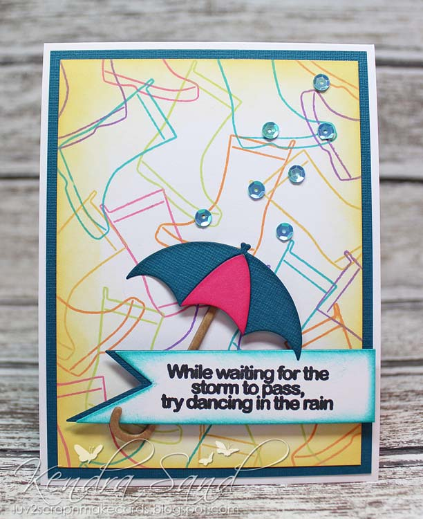 Frantic Stamper Clear Stamp Set - Rainy Days