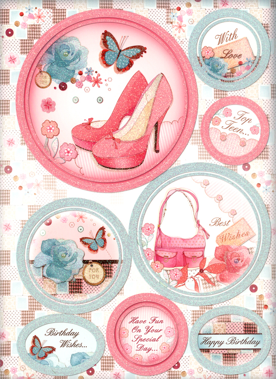 Hunkydory Crafts Gorgeous Girls Luxury Topper Sets - Bags & Shoes