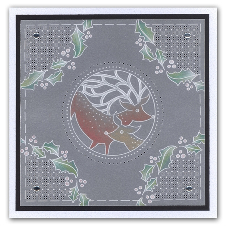 Christmas Deer A5 Square Plate