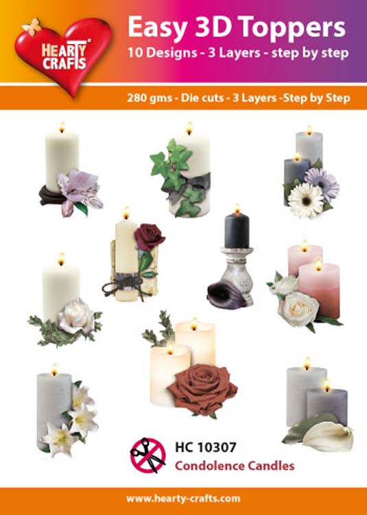 Hearty Crafts Easy 3D Toppers Condolence Candles