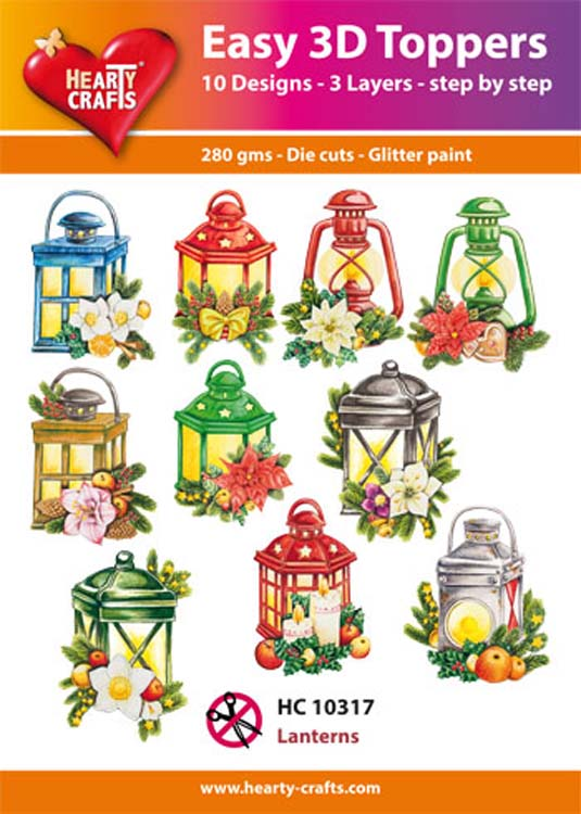 Ecstasy Crafts Hearty Crafts Easy 3D Toppers Lanterns
