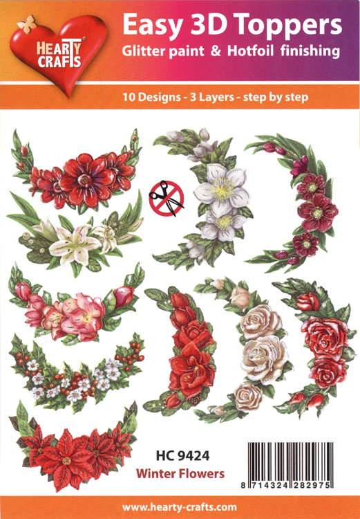 Easy 3D Toppers: Winter Flowers